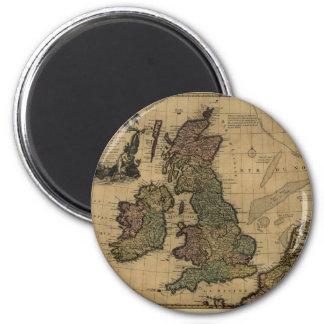 Les Isles Britanniques, 1700's Map 2 Inch Round Magnet