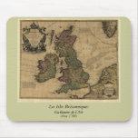 Les Isles Britanniques, 1700's Map Mouse Pad