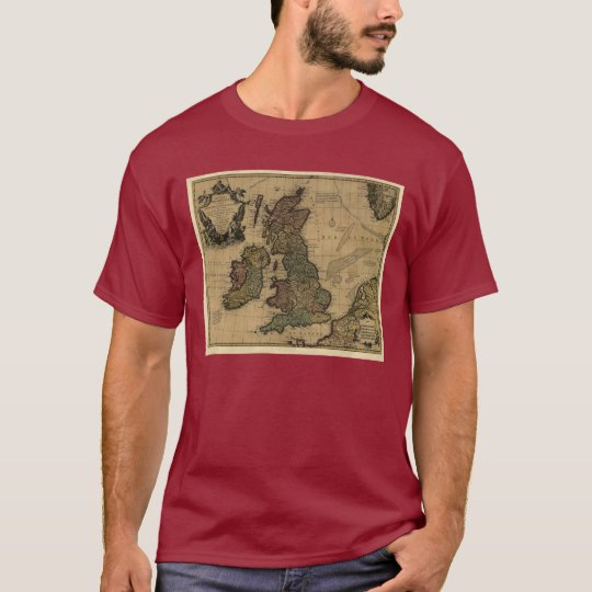 Les Isles Britanniques, 1700's Map T-Shirt