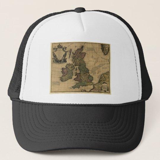Les Isles Britanniques, 1700's Map Trucker Hat