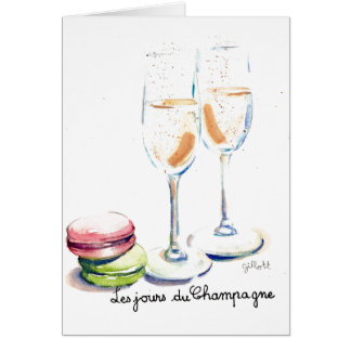 Les Jours du Champagne Stationery Note Card