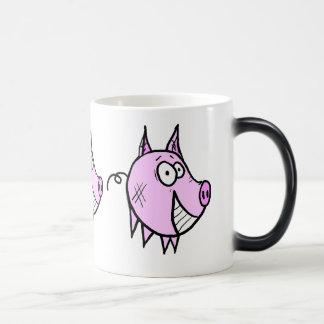 Les la taza Morphing del cerdo