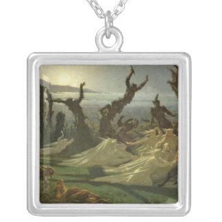 Les Lavandieres de la Nuit  c.1861 Silver Plated Necklace