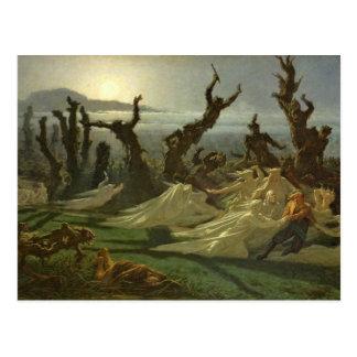 Les Lavandieres de la Nuit c 1861 Tarjetas Postales