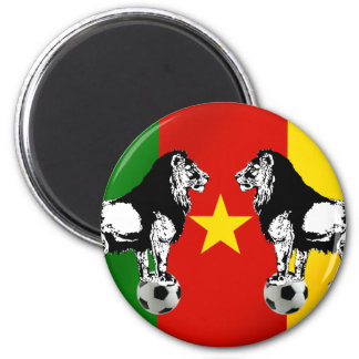 Les Lions Indomables Cameroun 2010 2 Inch Round Magnet