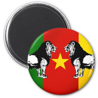 Les Lions Indomables Cameroun 2 Inch Round Magnet