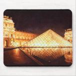 """""""Les Lumieres du Louvre"""" Watercolor Art Mouse Pad"""