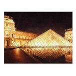 """""""Les Lumieres du Louvre"""" Watercolor Art Postcard"""