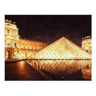 """Les Lumieres du Louvre"" Watercolor Art Postcard"