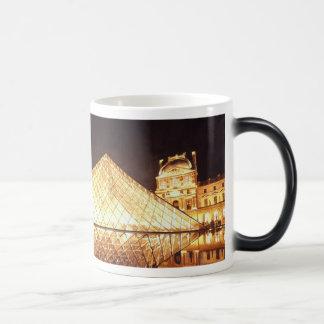 """Les Lumieres du Louvre"" Watercolor Magic Mug"
