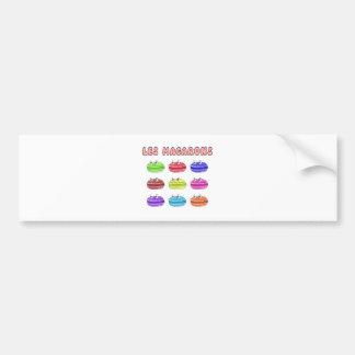 Les Macarons Cute Cartoon Bumper Sticker