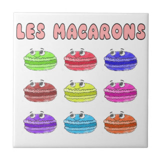 Les Macarons Cute Cartoon Ceramic Tile