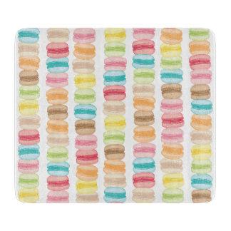 Les Macarons Glass Cutting Board