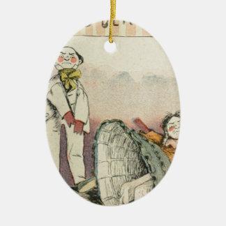Les Marionnettes de la Vie 1890 - Le Boulingrin Ceramic Ornament