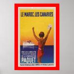 Les Maroc, Les Canaries - Paquet Poster