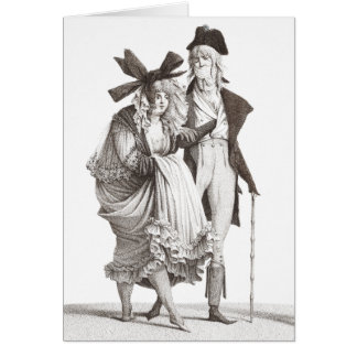 Les Mérveilleuses - 18th Century French Fashions Card