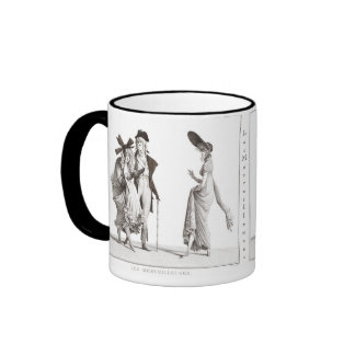 Les Merveilleuses - 18th Century French Fashions Ringer Mug