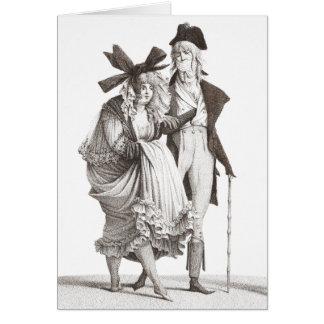 Les Mérveilleuses - modas francesas del siglo Tarjeta De Felicitación