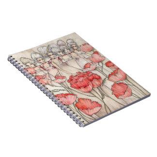 Les Merveilleuses Spiral Notebook
