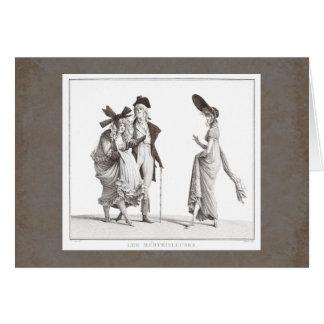 Les Mérveilleuses - víctimas del siglo XVIII de la Tarjeta De Felicitación