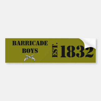 Les Mis Love: Barricade Boys Bumper Sticker Brown