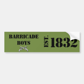 Les Mis Love: Barricade Bumper Sticker Green