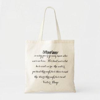 Les Miserables Bag: Marius Fancy Script Tote Bag