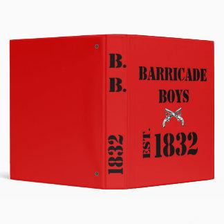 Les Misérables Love: Barricade Boys Binder Red