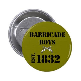 Les Misérables Love: Barricade Boys Button (Brown)