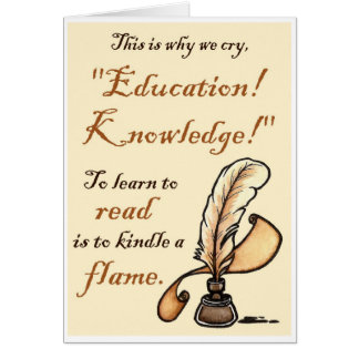 Les Misérables Love: Education Knowledge Note Card