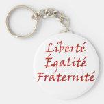 Les Misérables Love: Liberté, Égalité, Fraternité Keychain