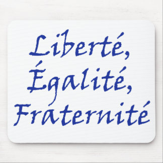 Les Misérables Love: Liberté, Égalité, Fraternité Mouse Pad