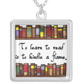 Les Misérables Love: To Learn to Read Square Pendant Necklace