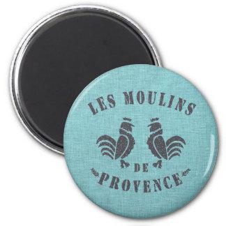 Les Moulins De Provence 2 Inch Round Magnet