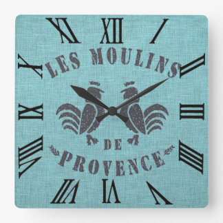 Les Moulins De Provence Reloj Cuadrado