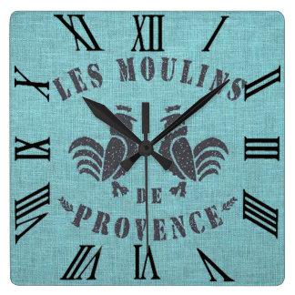 Les Moulins De Provence Square Wall Clock