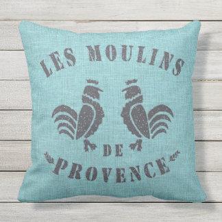 Les Moulins De Provence Throw Pillow