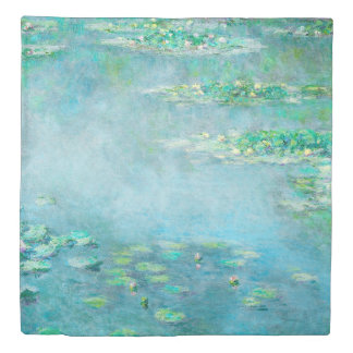 Les Nympheas Water Lilies Monet Fine Art Duvet Cover