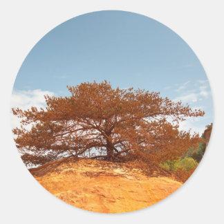 Les Ocres du Roussillon Round Sticker