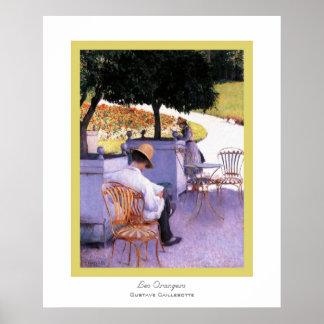 Les Orangers~ Gustave Caillebotte Impresiones