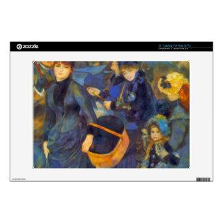 Les Para Pluies by Pierre Renoir Decal For Laptop