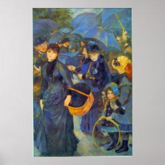 Les Para Pluies by Pierre Renoir Print