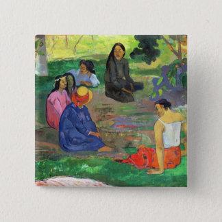 Les Parau Parau , or Conversation, 1891 Button