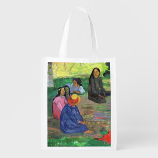 Les Parau Parau (The Gossipers) Grocery Bags