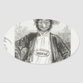Les Parents Terribles series: I am Mamzelle Oval Sticker
