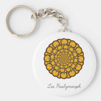 Les Paulymorph Basic Round Button Keychain