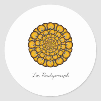 Les Paulymorph Round Sticker