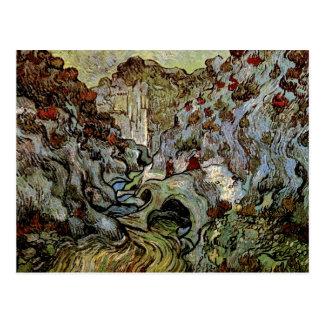 Les Peiroulets Ravine, Vincent van Gogh Postcard