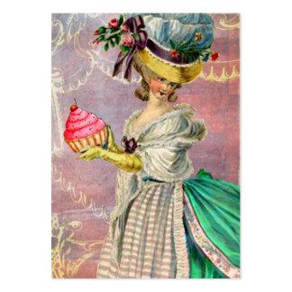 Les Petits Gateaux Marie Antoinette Cupcake & Bird Large Business Card