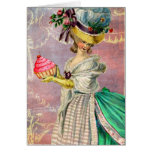 Les Petits Gateaux Marie Antoinette Cupcake Stationery Note Card